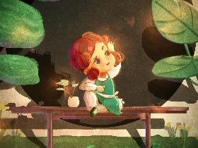 吃黄瓜的小姑娘