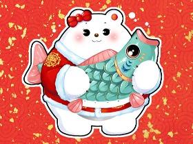 萌萌熊节日壁纸