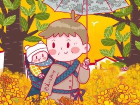 亲子漫画,我们都爱小西瓜。| 姜小姜poing |
