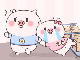 【小猪皮蛋9】微信表情包今天上架啦!