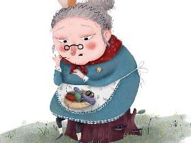 一位做针线活的老奶奶