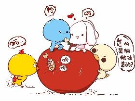 蓝尼可和艾妮兔:平安夜你有苹果吃么?