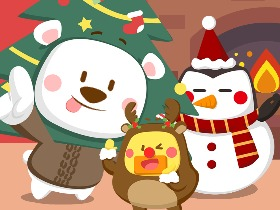 漫漫熊圣诞头像壁纸来袭~