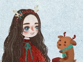 小美马祝愿大家《圣诞快乐》