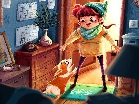 回家-儿童插画