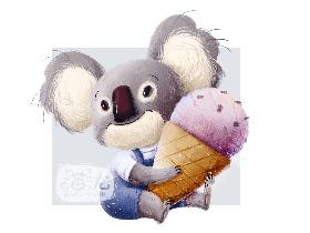 爱吃冰淇淋的小考拉
