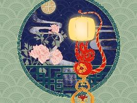 子鼠丰登-国潮插画
