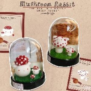 原创 红蘑菇毒蝇伞兔粘土摆件 图鉴2款