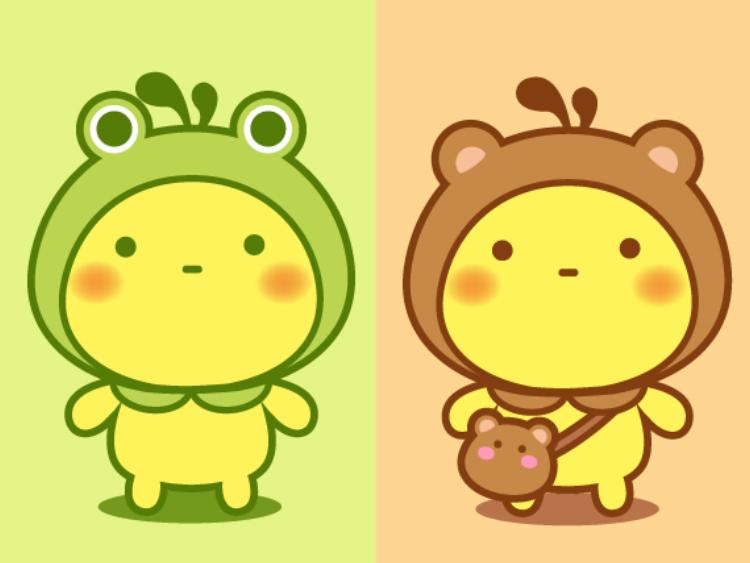 油爆青蛙小熊小鸡小兔