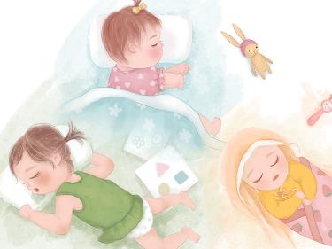 日历小插画  /  宝贝的N种睡姿