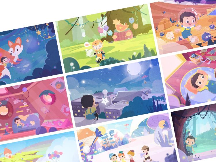 《阿-一个又一个可爱的梦》系列插画